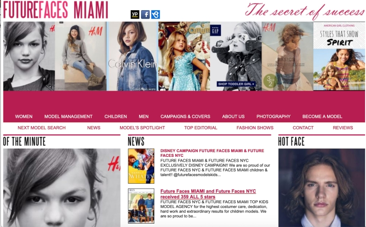 FUTURE FACES MIAMI WEBSITE